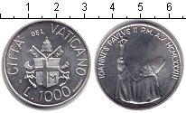 Изображение Монеты Ватикан 1000 лир 1983 Серебро XF