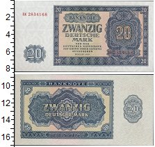 Изображение Банкноты Европа Германия 20 марок 1955  UNC-