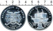 Изображение Монеты Бенин 1000 франков 2002 Серебро Proof-