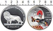 Изображение Мелочь Конго 10 франков 2006 Серебро Proof-