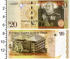 Изображение Банкноты Тонга 20 паанга 2008  UNC