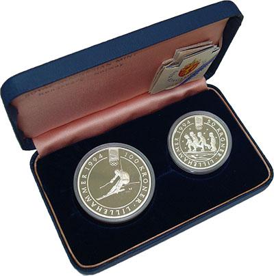 Изображение Подарочные монеты Норвегия XVII Олимпиада в Лиллехаммере 1994 Серебро Proof