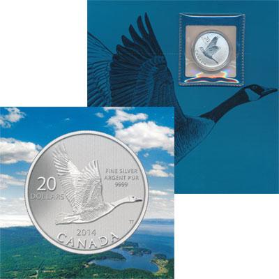 Изображение Подарочные монеты Северная Америка Канада Канадский Гусь 2014 Серебро Proof