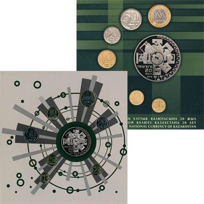 Изображение Мелочь СНГ Казахстан 20 лет Национальной Валюте Казахстана 2013  UNC