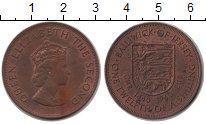 Изображение Монеты Остров Джерси 1/12 шиллинга 1960 Медь XF Елизавета II
