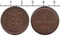 Изображение Монеты Гернси 4 дубля 1874 Медь XF