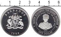 Изображение Монеты Северная Америка Барбадос 1 доллар 1994 Серебро Proof-