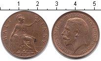 Изображение Монеты Великобритания 1/2 пенни 1912 Медь XF