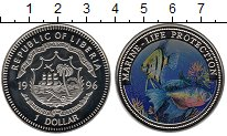 Изображение Мелочь Либерия 1 доллар 1996 Медно-никель Proof