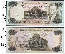 Изображение Банкноты Северная Америка Никарагуа 100000 кордоба 1987  UNC-