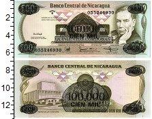 Изображение Банкноты Никарагуа 100000 кордоба 1987  UNC