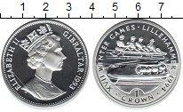 Изображение Монеты Великобритания Гибралтар 1 крона 1993 Серебро Proof-