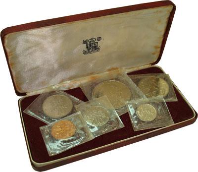 Изображение Подарочные монеты Ямайка Выпуск 1969 года 1969  Proof