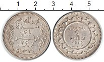Изображение Монеты Африка Тунис 2 франка 1916 Серебро XF