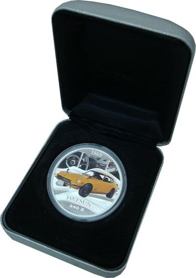 Изображение Подарочные монеты Тувалу Датсан 240Z 2006 Серебро Proof