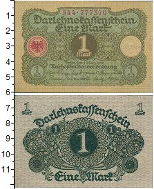 Изображение Банкноты Веймарская республика 1 марка 1920  UNC