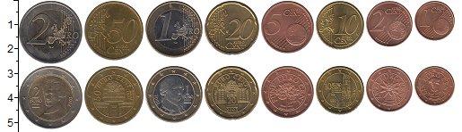 Изображение Наборы монет Австрия Австрия 2002-2009 0  XF+