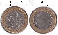 Изображение Дешевые монеты Турция 1 лира 2009 Биметалл VF