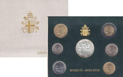 Изображение Подарочные монеты Ватикан Выпуск 1996 года 1996