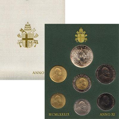 Изображение Подарочные монеты Ватикан Выпуск 1989 года 1989  UNC