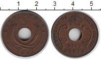Изображение Монеты Великобритания Восточная Африка 5 центов 1941 Медь XF