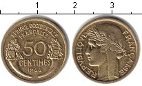 Изображение Монеты Французская Африка 50 сантим 1944 Медь XF &n