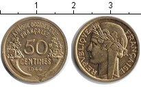 Изображение Монеты Французская Африка 50 сантим 1944 Медь XF