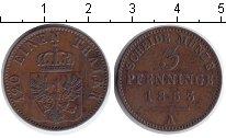 Изображение Монеты Пруссия 3 пфеннига 1863 Медь VF А
