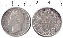 Изображение Монеты Германия Вюртемберг 1/2 гульдена 1847 Серебро XF