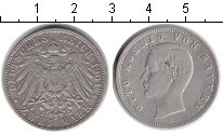 Изображение Монеты Бавария 2 марки 1901 Серебро XF Отто