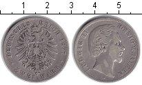 Изображение Монеты Бавария 2 марки 1877 Серебро VF