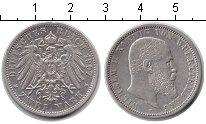 Изображение Монеты Вюртемберг 2 марки 1907 Серебро XF Вильгельм II