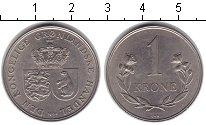 Изображение Монеты Гренландия 1 крона 1964 Медно-никель XF