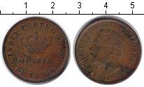 Изображение Монеты Португальская Индия 1/4 таньга 1881 Медь  Людовик I