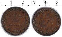 Изображение Монеты Португальская Индия 1/4 таньга 1884 Медь  Людовик I