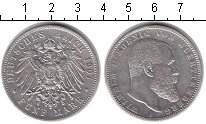 Изображение Монеты Вюртемберг 5 марок 1907 Серебро XF