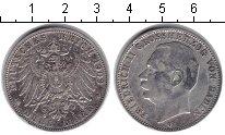 Изображение Монеты Баден 3 марки 1909 Серебро XF Фридрих II