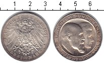 Изображение Монеты Германия Вюртемберг 3 марки 1911 Серебро XF