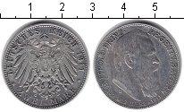 Изображение Монеты Бавария 2 марки 1911 Серебро XF 90-летие принца-реге