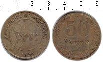 Изображение Монеты Колумбия 50 сентаво 1928 Медь XF Лепрозорий