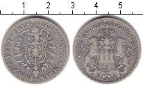Изображение Монеты Германия Гамбург 2 марки 1876 Серебро XF