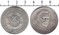 Изображение Монеты ГДР 20 марок 1973 Серебро XF 60 лет со дня смерти
