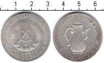Изображение Монеты ГДР 10 марок 1969 Серебро XF 250 лет со дня смерт