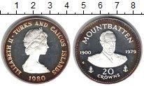 Изображение Монеты Великобритания Теркc и Кайкос 20 крон 1980 Серебро Proof-