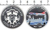 Изображение Монеты Африка Того 1000 франков 2002 Серебро Proof-