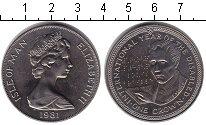 Изображение Монеты Остров Мэн 1 крона 1981 Медно-никель UNC- Елизавета II. Междун