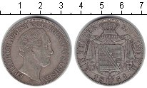 Изображение Монеты Германия Саксония 1 талер 1851 Серебро VF