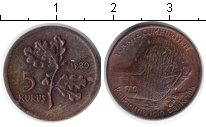 Изображение Монеты Турция 5 куруш 1980 Медь XF ФАО