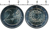Изображение Мелочь Латвия 2 евро 2015 Биметалл UNC