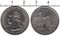 Изображение Мелочь США 1/4 доллара 2000 Медно-никель UNC- D. Массачусетс 1788